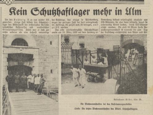 Ulmer Tagblatt, 30. Juli 1935